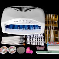 1 Set 54W Professional Acrylic UV Nail Art Tips Buffer Lamp Dryer Machine Curing Brush Tools Set Kit