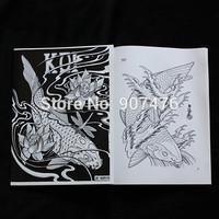 fish tattoo sketch book magzine manuscripts A4 size for tattoo accessories