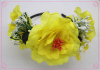20 pcs wholesale for party  Girls baby hairband  yellow  hair  Accessories  for  free  shipping