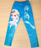 Free Shipping New 2014 Baby Girls Frozen Leggings Kids Frozen Pants Girl Frozen Long Leggings