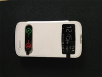 Free shipping Huawei G610 Official Smart View S View Cover Leather Open Window Case with Battery Cover 8 Colors