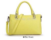 2014 Popular Fashion Patent Leather Crocodile Pattern Ladies Womens Shoulder Handbags BAG3001