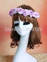 Flowers Wreaths/Flower Girl Headband/Photography Props Artificial Flower Wreath For Hair/Party Festive Garland/Wedding Wreath