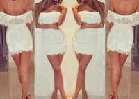 2014 Women's Ladies Summer Dresses Bandage Bodycon Lace Sexy Party Cocktail Mini Dress