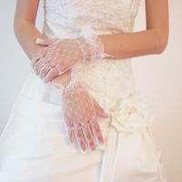 Bride Wedding Gloves Lace gloves Wedding Dress Gloves Yarn Wedding Accessory (minim order $10)
