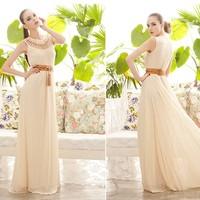 7275 clothing cutout flower pattern o-neck one-piece dress
