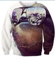 2014New men women's 1991inc Nature&Animals tiger glasses 3D print Pullover simple galaxy couples Sweatshirts Hoodies crop Tops
