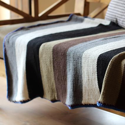 fatto a mano coperta coperta a maglia decorazione tappeto coperta ...