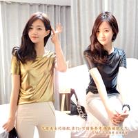 Shining gold 2014 personalized t-shirt fashion beautiful t top