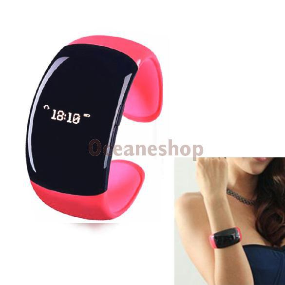 Wireless Watch Bluetooth Vibrating Bracelet Mobile Phone Caller ID Display T#3T(China (Mainland))