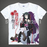 Machine-Doll wa Kizutsukanai Domon Hinowa Yaya T-shirt Breathable round short sleeve Cartoon shirt manga cosplay top quality