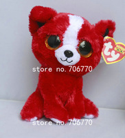 """IN HAND!  Rare Ty beanies Boo Big eyes Animal Tomato The RED PUBBY DOG~~Plush doll 6"""" 15cm Stuffed TOY BEST GIFT free shippin"""