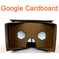 New Hot selling DIY Google Cardboard Virtual reality VR mobile phone 3D glasses with NFC tag Free Shipping