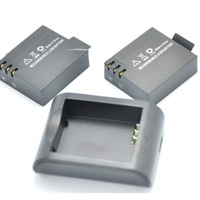2X 900mAh Battery + Cradle Dock Charger Charging for SJ4000 Camcorder Camera