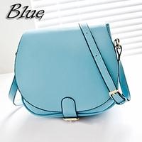 Free shipping Retro Women Mini handbag fashion ladies belt buckle PU leather one shoulder bag weekender Blue Black ZB0030