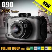 "NEW Ambarella A7 Car DVR Video Recorder G90 Full hd 1080P 2.7""LCD HDR G-Sensor Night Vision Video Recorder Dash Cam P0015360(China (Mainland))"