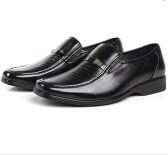 2014 New Man Dress Flats Fashion Comfortable Black Shoes for Men Spring Autumn size 38-44 XMP088(China (Mainland))