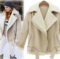 Winter Women's 2014 Suede Berber Fleece Lambs Wool Coat Women Thickening Cotton-Padded Jacket Wadded Jacket Free Shipping Winter