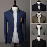 Spring Winter 2014 Brands Man Blazer Slim Gentry Design Western Style Wedding Men Blazers For Men Patchwork Collar Dress AX503