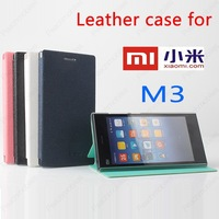 Xiaomi M3 mi3 Case cover  Good Quality Side Open PU Flip case cover for Xiaomi M3 mi3 cell phone free shipping