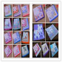 50PCS/LOT vintage ladies handkerchief 100% cotton hanky pocket squares  women flora  11.81Inch(30cm)