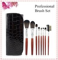 8pcs brush hair wool makeup brushes & tools professional with bag