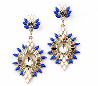 2014 New Arrival Colorful Crystal Drop Dangle Earrings For Fashionable Crowd EA833