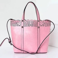 2014 new European and American vintage hollow carved women shopping bag with a small bag tote and shoulder small size