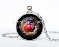 1pcs Helix Nebula pendant Helix Nebula necklace Helix Nebula jewelry galaxy universe stars space Glass Cabochon Necklace A0081