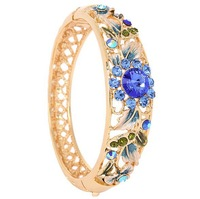 F08901 Retro Ethnic Style Bracelet Bangle Fashion Jewelry for Women Ladies Color Blue+freeshipment