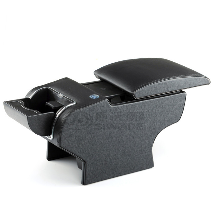 free punch Peugeot 307 car armrest box 9 function with USB hidden cup seat no drilling central box(China (Mainland))