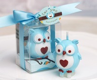 30pcs/lot free shipping personalized wedding favors and gifts Baby shower favors birthday part owl candle decoration