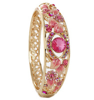 F08903 Retro Ethnic Style Bracelet Bangle Fashion Jewelry for Women Ladies Color Pink+freeshipment