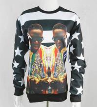 New fashion 2014 men/women 3D sweatshirts America hip hop rock star Biggie Smalls character printed pullover hoodies sudaderas(China (Mainland))