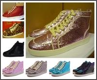 2014 new RANTUS ORLATO MAN LEOPARD FLAT (4 COLOR) designer brands France red bottom sneakers,leopard men fashion shoes