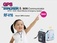 Super mini RF-V16 GPS Tracker sos communicator hidden GPS Tracker Car Cats,Pets, Dog,Goods standby 12days without original box