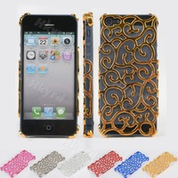 1X New Plating Artistic Palace Flower Case Cover Fit For iPhone 5 5G 6th Gen CM171