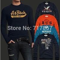 2014 Men's T Shirts 100% Cotton Autumn WinterT-shirts Male Long Sleeve Design Man Top Tshirts Quality Tee Classic styel