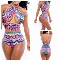 Drop Shipping 2014 Hottest Sexy Women Bandage Bikini Swimwear for women Halter Swimsuit Brand New Swimsuit Plus Size Beach Wear