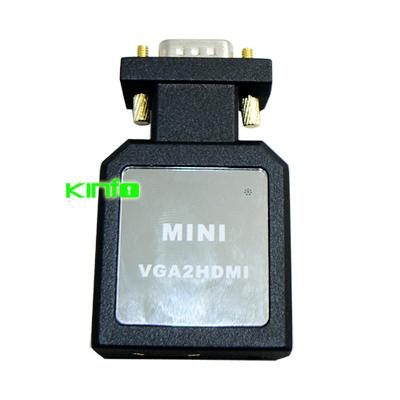 1080P Mini VGA Audio HDMI Video Converter for Desktop PC Notebook Laptop to TV DVD 0.25-VTH02(China (Mainland))