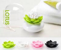 Free Shipping 1Piece Lotus Cotton Bud Holder Qualy Design