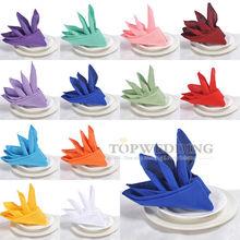 "Free Shipping Retail Wholesales 12PCS 20""x20"" Square Linen Cloth Napkins Wedding Party Restaurant Table Napkins 12 Colors NEW(China (Mainland))"