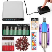 HOT SALE Full Set 30000RPM Electric Nail Drill Bits Acrylic UV Gel Buffe Sticker Scrub Rings Drills Tools Set