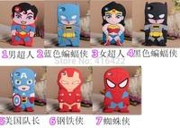 Soft Rubber 3D Superman Ironman Spiderman Batman Cartoon Cute Case for iPod Touch 4 5 Free Shipping 10pcs/lot