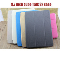 Free Shipping!9.7 inch Cube Talk 9x Customised PU Leather Case Protective Cover for Cube U65GT tablet pc two colors