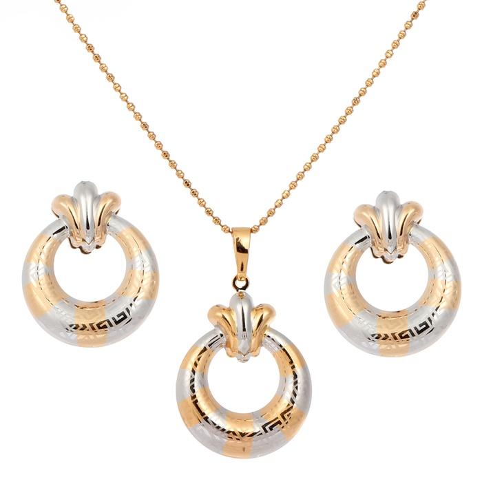 Wholesale New Women Wedding Statement Jewelry 18k Yellow Gold ...