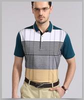 Brand 2014 summer quick-drying lapel polo shirt Middle-aged men's short T short sleeve T-shirt Men's T-shirt men's clothing
