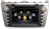 A8 Chipset S100 HD Car DVD Stereo For Mazda 6  With 1G CPU GPS,BT,iPOD,TV,Radio,RDS,Wifi/3G USB port,Free GPS Map+ Free Shipping