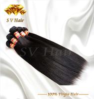 Top quality malaysian beauty hair 3 pcs 6A malaysian virgin hair extension Wholesale straight human hair weaves free shipping