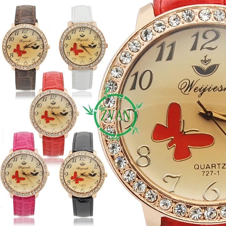 Shocked Quartz Crystals New Women 39 s Quartz Wristwatch Crystal Synthetic Leather Bracelet Wrist Watch